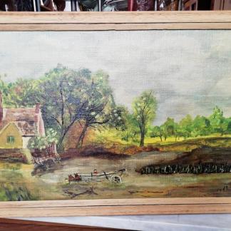 Stilvolle Landschaft als Ölbild